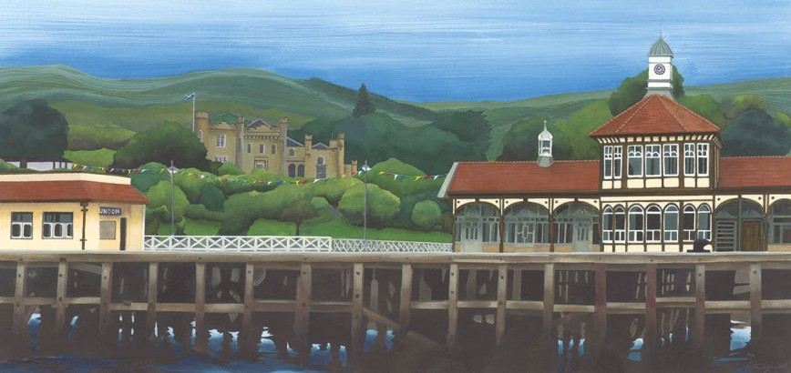 'Dunoon Pier ' by artist Anthea Gage RSW