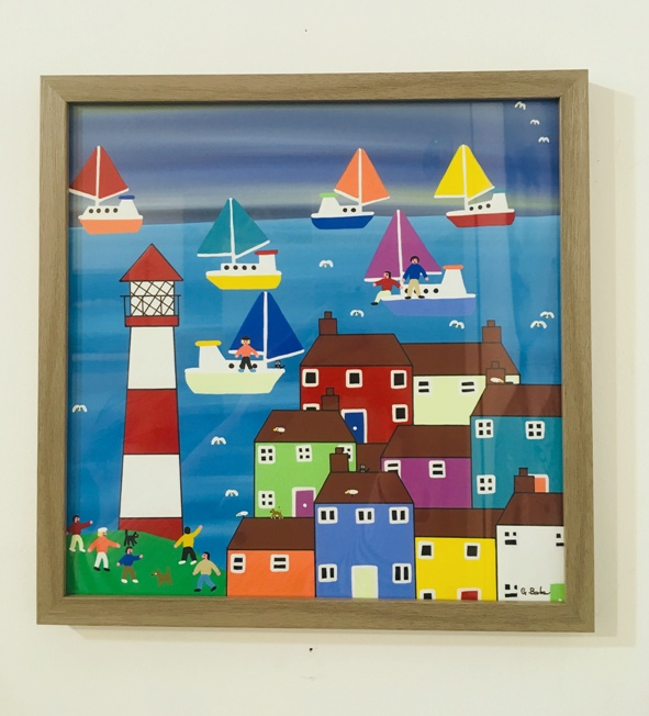 'Seaside Village' by artist Gordon Barker