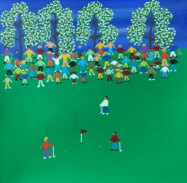 'The Final Hole' by artist Gordon Barker