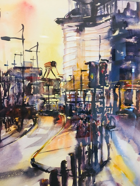 'Clydeside Walkway, Broomielaw, Glasgow' by artist Karen Cairns