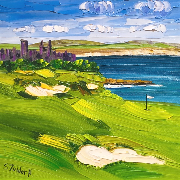 'Castle Course, St. Andrews' by artist Sheila Fowler
