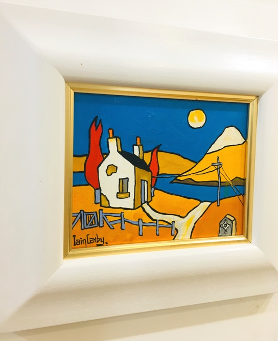 'The Bothy by the Old Stone' by artist Iain Carby