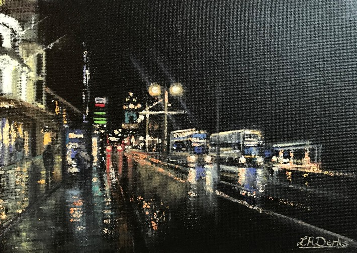 'Princes Street Nights #1' by artist Lesley Anne Derks