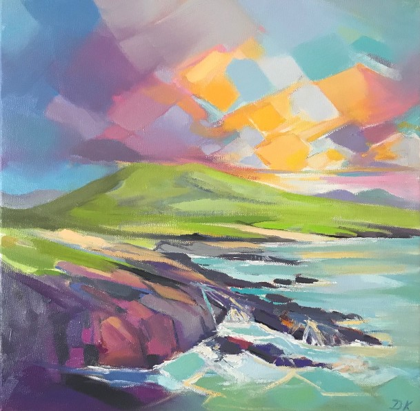 'Crashing Wave on Harris ' by artist DK  MacLeod