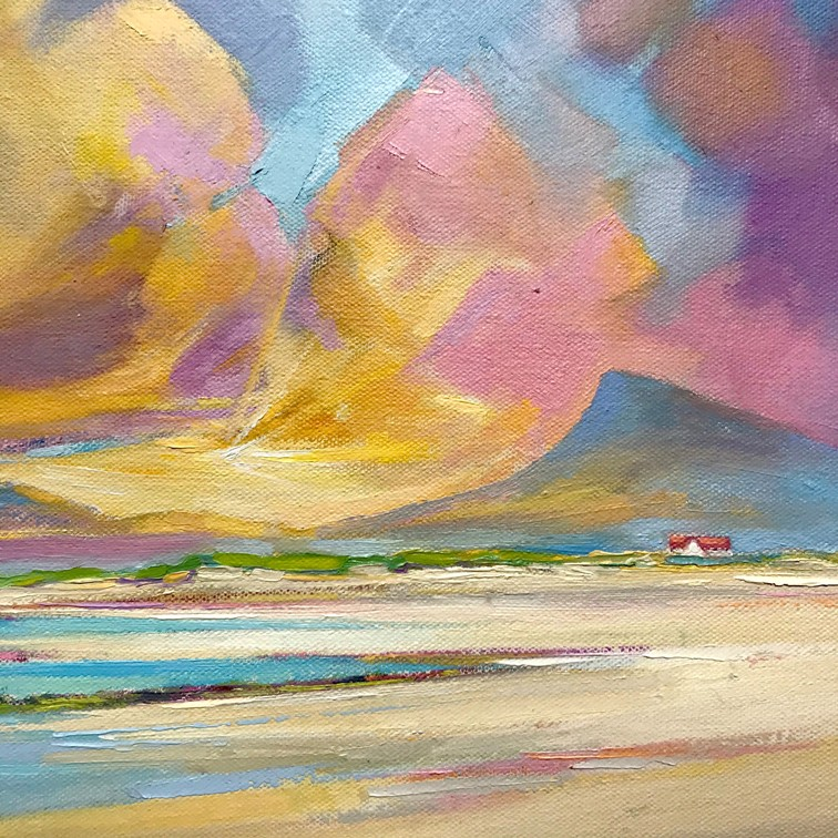 'Sunrise on Uist Beach' by artist DK  MacLeod