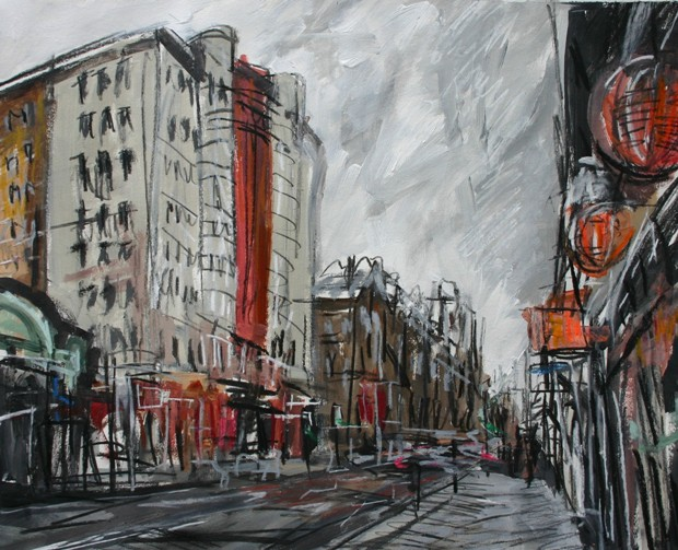 'Beresford Building with Chinese Lanterns' by artist Matthew Thompson