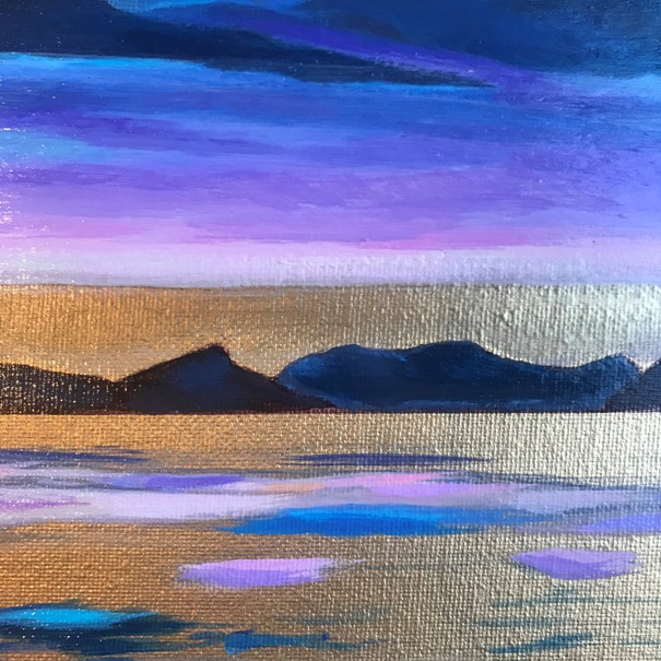 'Arrochar Alps ' by artist Julia Sagias