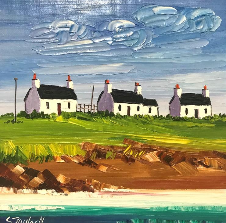 'Three in a Row, Tiree' by artist Sheila Fowler