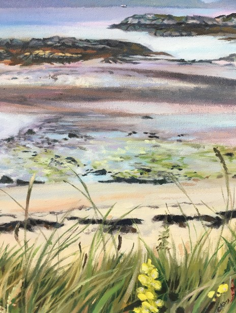 'The Isles from the Mainland' by artist Catherine King