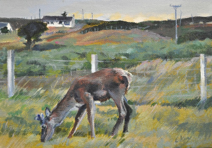 'Early Morning Visitor I' by artist Catherine King