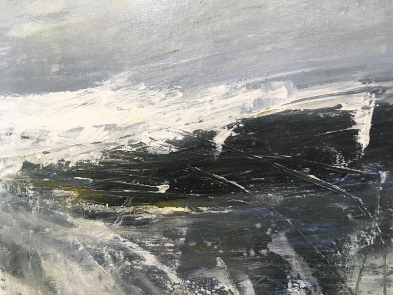 'High Tide, Breakwater' by artist Elaine Cunningham