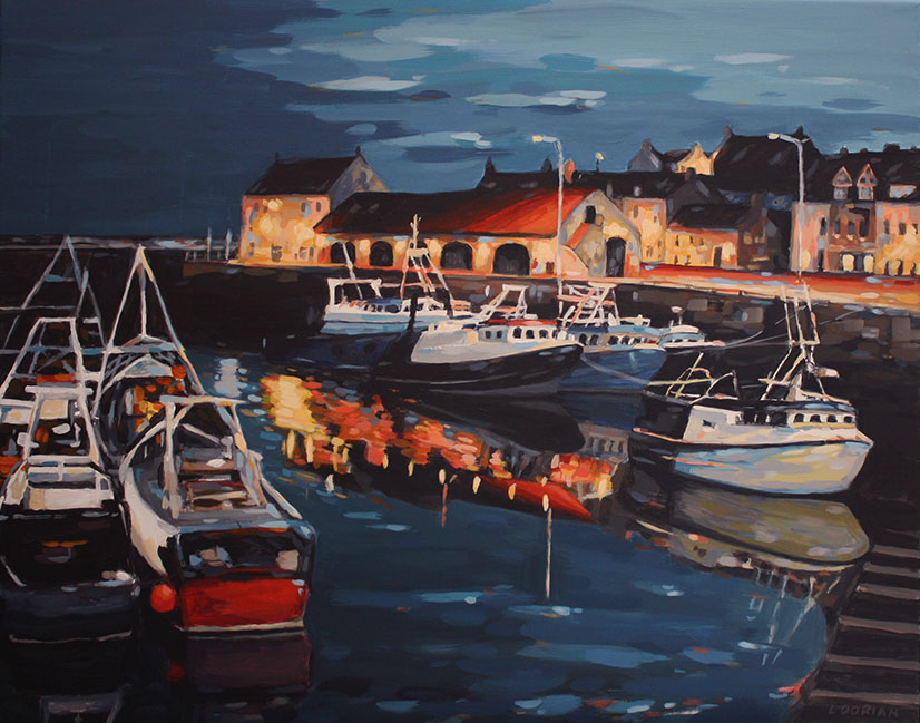 'At The End Of The Day, Pittenweem ' by artist Louise Dorian