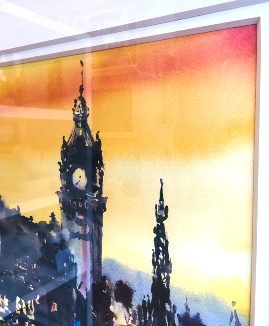 'Cobalt and Gold over Edinburgh' by artist Karen Cairns