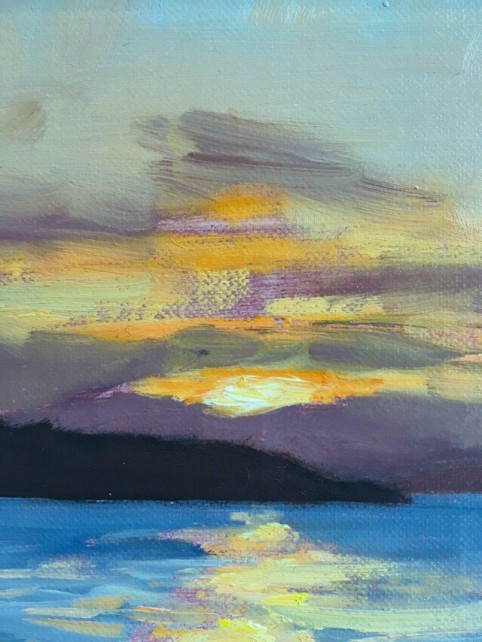 'Sunset over Bute' by artist Lee Craigmile