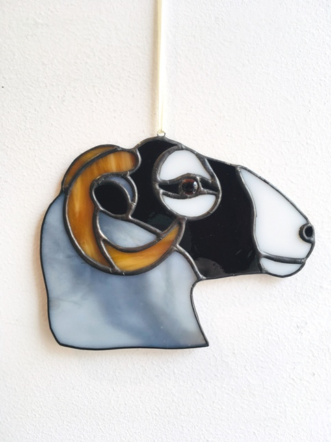 'Swaledale Sheep Head' by artist Eddy Crick