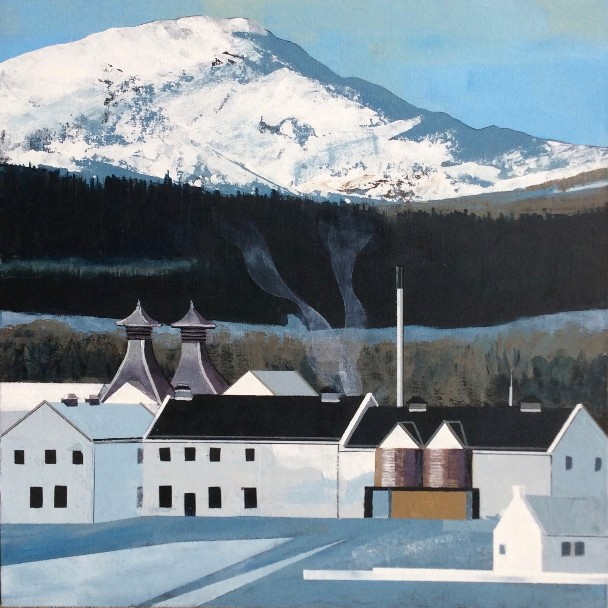 'Dalwhinnie Distillery' by artist Judith  Appleby