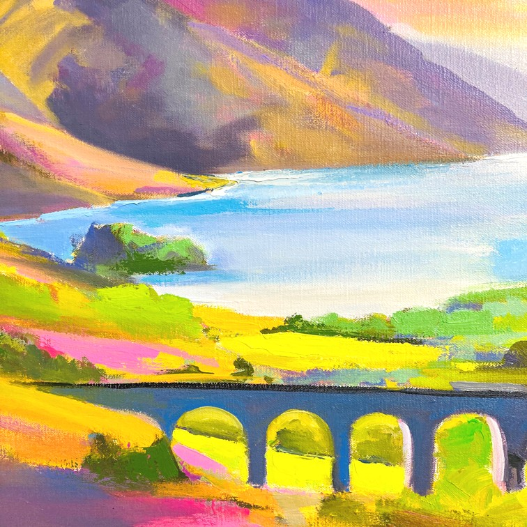 'Glenfinnan Light' by artist DK  MacLeod