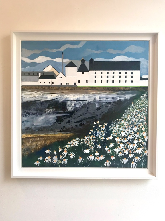 'Laphroaig Distillery and Daisies' by artist Judith  Appleby