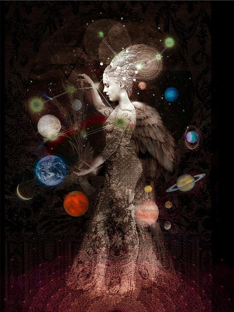 ''LADY OF THE STARS' Limited Edition Print 1/20' by artist Ashley Cook