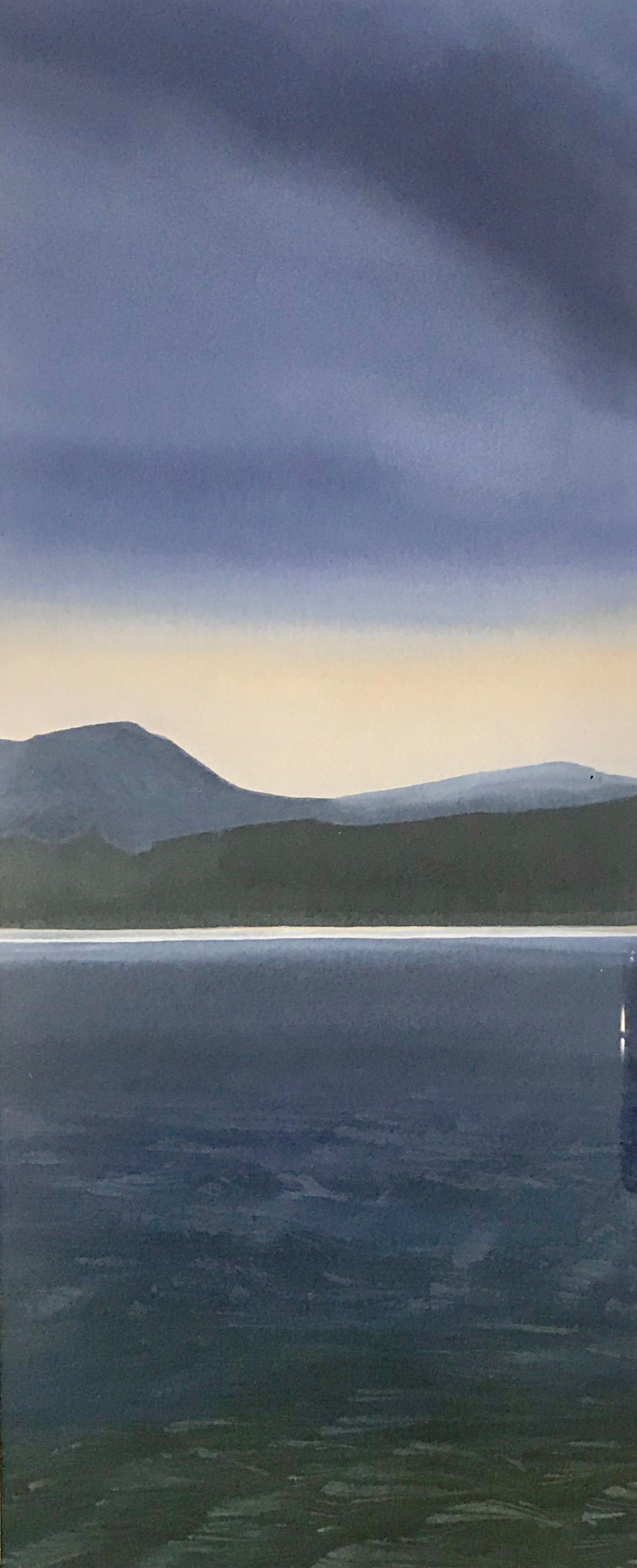 '100 Views of Dunrod Hill - 'Summer Dawn'' by artist Anthea Gage RSW