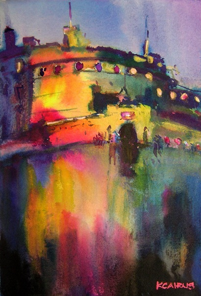 'Espalanade Evening, Edinburgh Castle' by artist Karen Cairns