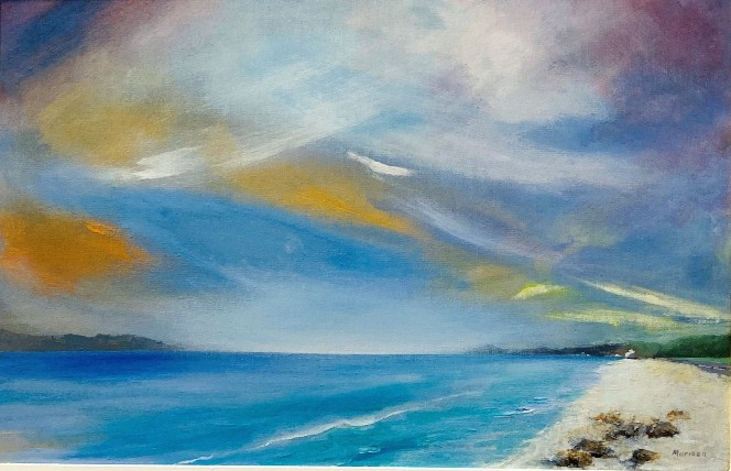 'Arran and Bute from Seamill' by artist Michael Murison