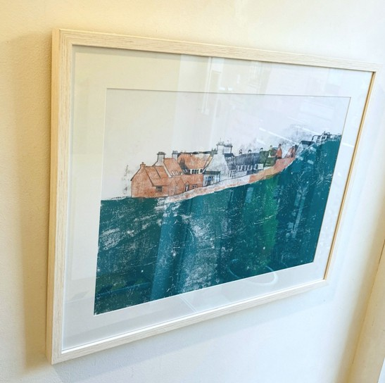 'Down to the Harbour, Dunbar' by artist Maeve Dixon