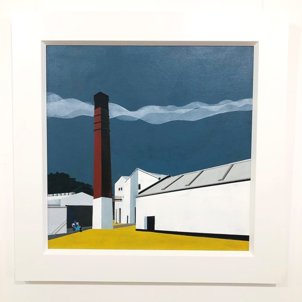 'The Red Chimney, Lagavulin Distillery' by artist Judith Appleby